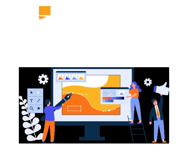 graphic design illustration for spark graphics poole website