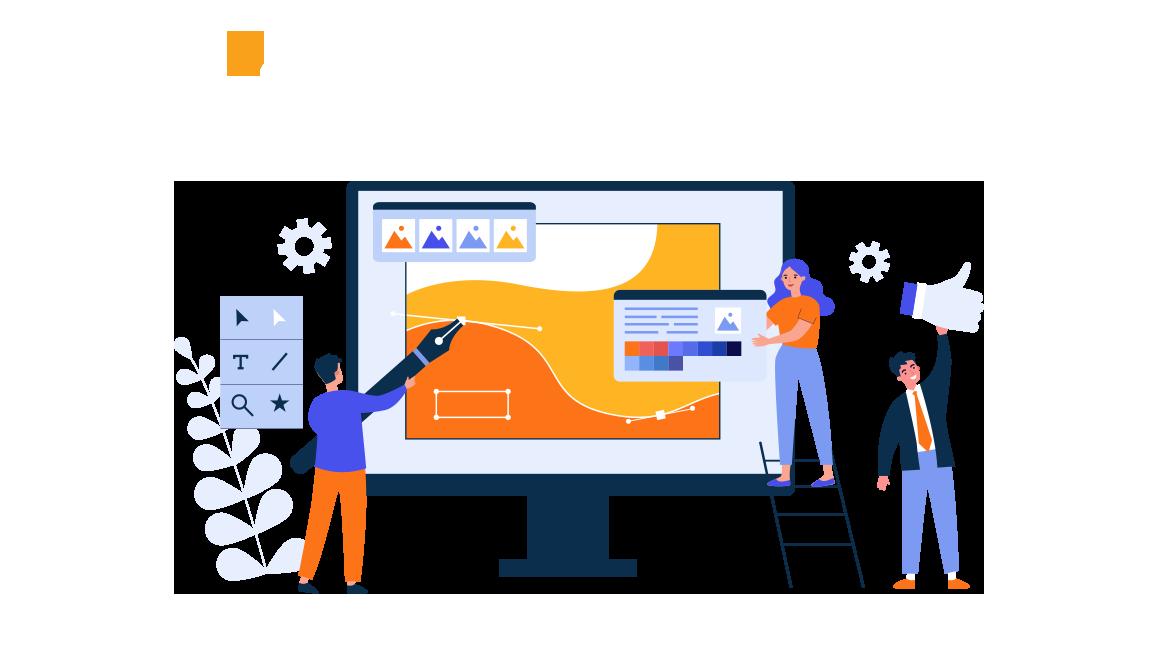 graphic design agency illustration for spark graphics