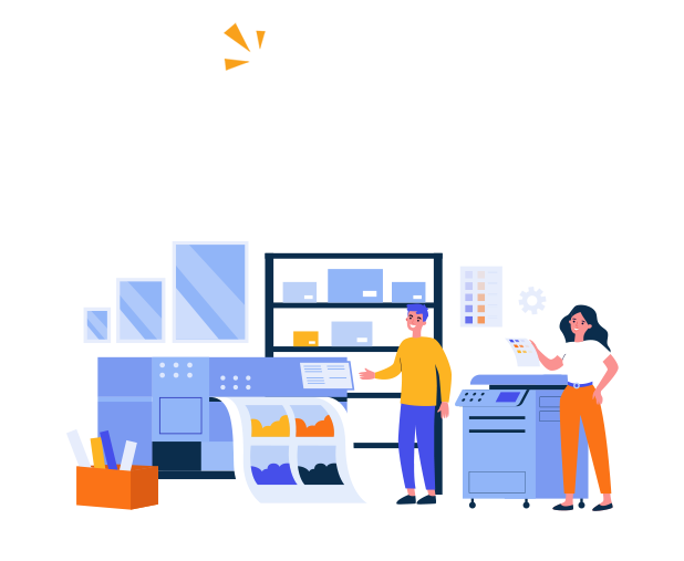 illustration of printing business near me