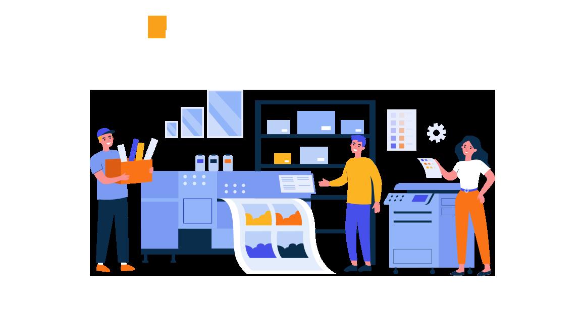 illustration of business printing - poole