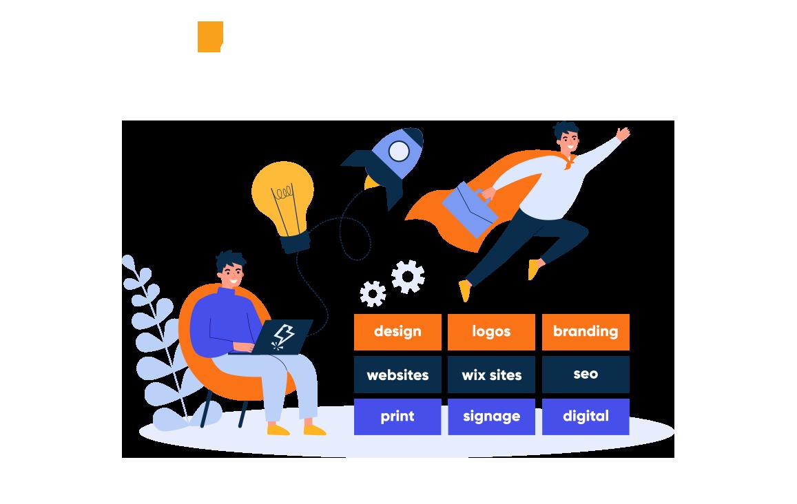 graphic design agency poole illustration - branding, logo design, web design, print